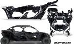 Can Am Maverick X3 4 Door Graphics Kit Wrap Death Dealer 150x90 - Can-Am BRP Maverick X3 TURBO MAX DS RS 2016-2021 Graphics