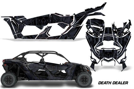Can Am Maverick X3 4 Door Graphics Kit Wrap Death Dealer 570x376 - Can-Am BRP Maverick X3 TURBO MAX DS RS 2016-2021 Graphics