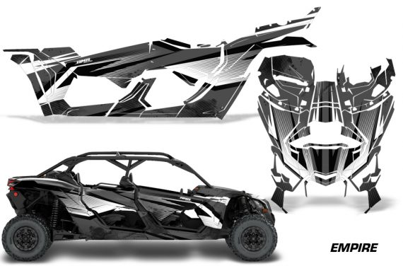 Can Am Maverick X3 4 Door Graphics Kit Wrap Empire K 570x376 - Can-Am BRP Maverick X3 TURBO MAX DS RS 2016-2021 Graphics