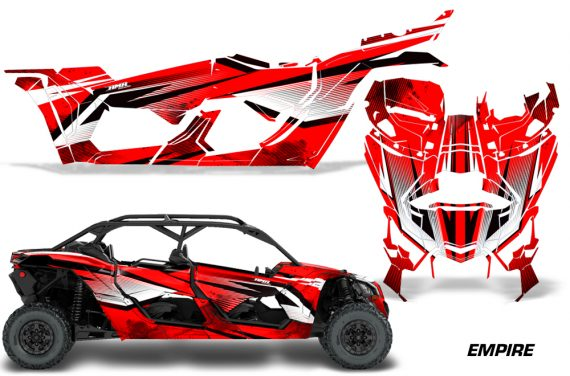 Can Am Maverick X3 4 Door Graphics Kit Wrap Empire R 570x376 - Can-Am BRP Maverick X3 TURBO MAX DS RS 2016-2021 Graphics