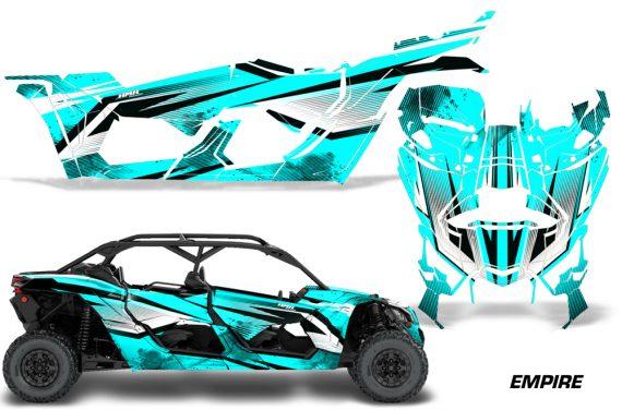 Can Am Maverick X3 4 Door Graphics Kit Wrap Empire T 570x376 - Can-Am BRP Maverick X3 TURBO MAX DS RS 2016-2021 Graphics