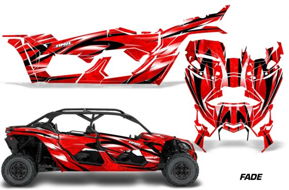Can Am Maverick X3 4 Door Graphics Kit Wrap Fade R 570x376 - Can-Am BRP Maverick X3 TURBO MAX DS RS 2016-2021 Graphics
