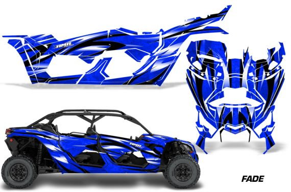 Can Am Maverick X3 4 Door Graphics Kit Wrap Fade U 570x376 - Can-Am BRP Maverick X3 TURBO MAX DS RS 2016-2021 Graphics