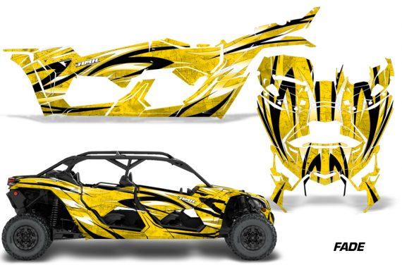 Can Am Maverick X3 4 Door Graphics Kit Wrap Fade Y 570x376 - Can-Am BRP Maverick X3 TURBO MAX DS RS 2016-2021 Graphics