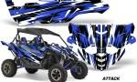 Yamaha YXZ 1000R SXS Graphic Kit Decal Wrap Attack Blue 150x90 - Yamaha YXZ 1000R 2015-2018 Graphics