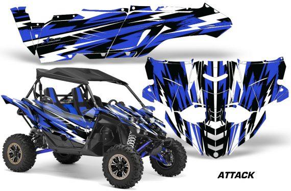 Yamaha YXZ 1000R SXS Graphic Kit Decal Wrap Attack Blue 570x376 - Yamaha YXZ 1000R 2015-2018 Graphics