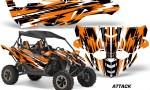 Yamaha YXZ 1000R SXS Graphic Kit Decal Wrap Attack Orange 150x90 - Yamaha YXZ 1000R 2015-2018 Graphics