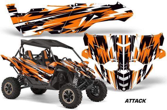 Yamaha YXZ 1000R SXS Graphic Kit Decal Wrap Attack Orange 570x376 - Yamaha YXZ 1000R 2015-2018 Graphics