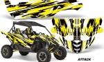 Yamaha YXZ 1000R SXS Graphic Kit Decal Wrap Attack Yellow 150x90 - Yamaha YXZ 1000R 2015-2018 Graphics