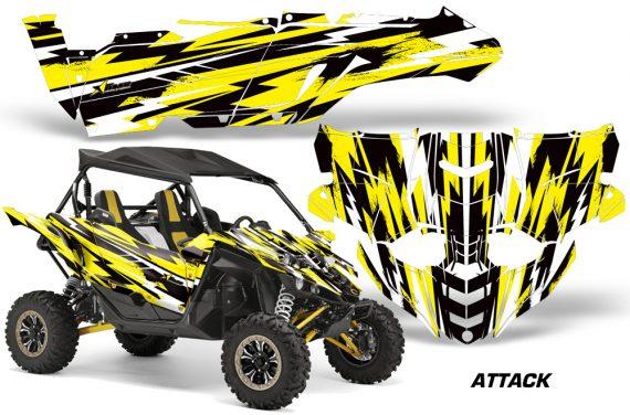 Yamaha YXZ 1000R SXS Graphic Kit Decal Wrap Attack Yellow 570x376 - Yamaha YXZ 1000R 2015-2018 Graphics