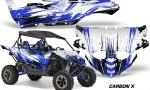Yamaha YXZ 1000R SXS Graphic Kit Decal Wrap Carbon X Blue 150x90 - Yamaha YXZ 1000R 2015-2018 Graphics