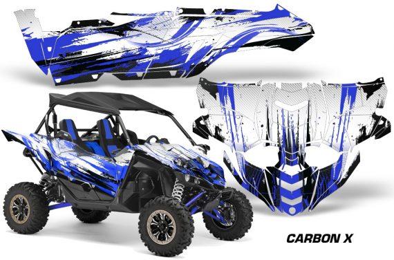 Yamaha YXZ 1000R SXS Graphic Kit Decal Wrap Carbon X Blue 570x376 - Yamaha YXZ 1000R 2015-2018 Graphics
