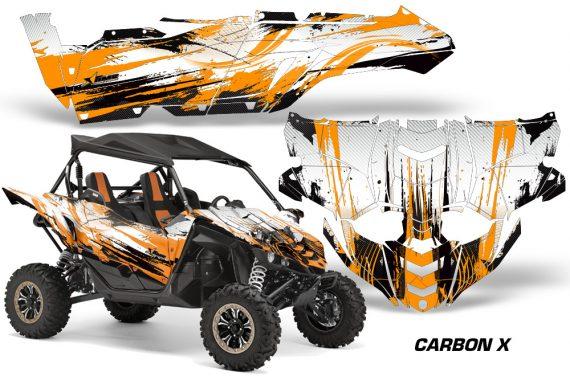 Yamaha YXZ 1000R SXS Graphic Kit Decal Wrap Carbon X Orange 570x376 - Yamaha YXZ 1000R 2015-2018 Graphics