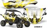 Yamaha YXZ 1000R SXS Graphic Kit Decal Wrap Carbon X Yellow 150x90 - Yamaha YXZ 1000R 2015-2018 Graphics