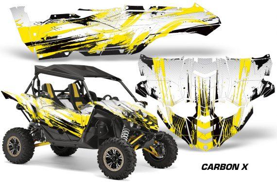 Yamaha YXZ 1000R SXS Graphic Kit Decal Wrap Carbon X Yellow 570x376 - Yamaha YXZ 1000R 2015-2018 Graphics