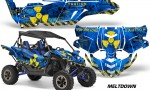 Yamaha YXZ 1000R SXS Graphic Kit Decal Wrap Mltdown YU 150x90 - Yamaha YXZ 1000R 2015-2018 Graphics