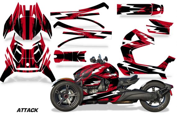 Can Am Ryker 2019 Graphic Kit Vinyl Decal Deco Attack Red 570x376 - Can-Am Ryker 2019 Graphics