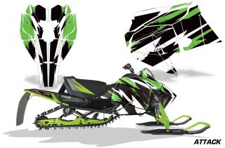 Arctic-Cat-2018-ZR-6000R-Graphic-Kit-Vinyl-Decal-Deco-Attack-Green
