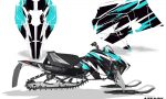 Arctic Cat 2018 ZR 6000R SX Sled Snowmobile Graphics Kit Attack Aqua 150x90 - Arctic Cat ZR 6000 R SX 2018+ Graphics