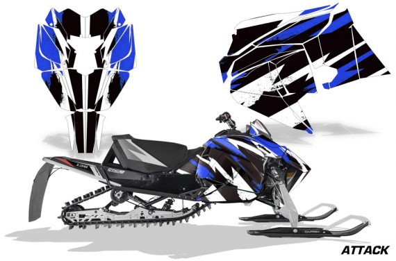 Arctic Cat 2018 ZR 6000R SX Sled Snowmobile Graphics Kit Attack Blue 570x376 - Arctic Cat ZR 6000 R SX 2018+ Graphics