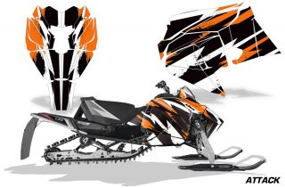 Arctic Cat 2018 ZR 6000R SX Sled Snowmobile Graphics Kit Attack Orange 320x211 - Arctic Cat ZR 6000 R SX 2018+ Graphics
