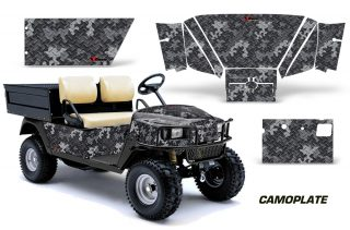 EZGO Workhorse 96 03 Golf Cart Graphics Kit Decal Wrap Camoplate Black 320x211 - EZGO Workhorse 1996-2003 Golf Cart Graphics
