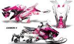 Polaris Axys Graphic Kit Graphics Decal Wrap Carbon X Pink 150x90 - Polaris Axys Rush Pro S/Switchback Adventure 2015+ Graphics