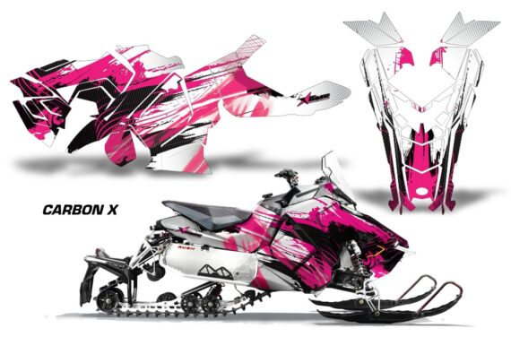 Polaris Axys Graphic Kit Graphics Decal Wrap Carbon X Pink 570x376 - Polaris Axys Rush Pro S/Switchback Adventure 2015+ Graphics