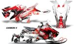 Polaris Axys Graphic Kit Graphics Decal Wrap Carbon X Red 150x90 - Polaris Axys Rush Pro S/Switchback Adventure 2015+ Graphics
