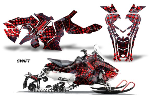 Polaris Axys Graphic Kit Graphics Decal Wrap Swift Red 570x376 - Polaris Axys Rush Pro S/Switchback Adventure 2015+ Graphics