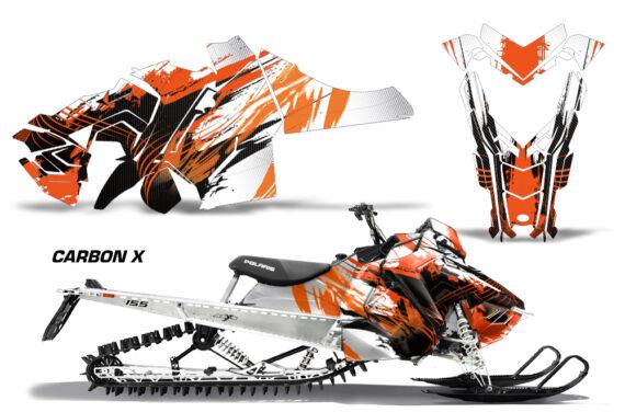 Polaris Axys SKS RMK Graphic Kit Graphics Decal Wrap Carbon X O 570x376 - Polaris Axys Pro RMK SKS 2015-2020 Graphics