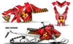 Polaris Axys SKS RMK Graphic Kit Graphics Decal Wrap Meltdown YR 150x90 - Polaris Axys Pro RMK SKS 2015-2020 Graphics