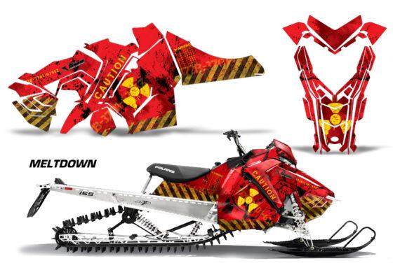 Polaris Axys SKS RMK Graphic Kit Graphics Decal Wrap Meltdown YR 570x376 - Polaris Axys Pro RMK SKS 2015-2020 Graphics