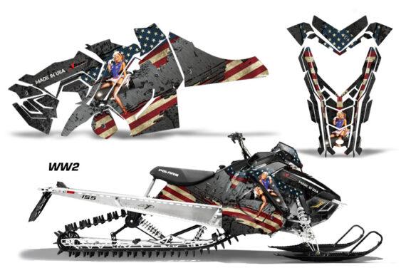 Polaris Axys SKS RMK Graphic Kit Graphics Decal Wrap WW2 570x376 - Polaris Axys Pro RMK SKS 2015-2020 Graphics