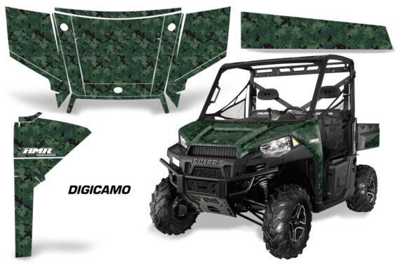 Polaris Range 13 15 Graphic Kit Wrap Digicamo Green 570x376 - Polaris Ranger Diesel/Diesel HST/Crew Diesel/Crew 900/900XP 2013-2019 UTV Graphics