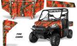 Polaris Range 13 15 Graphic Kit Wrap Fire Camo 150x90 - Polaris Ranger Diesel/Diesel HST/Crew Diesel/Crew 900/900XP 2013-2019 UTV Graphics