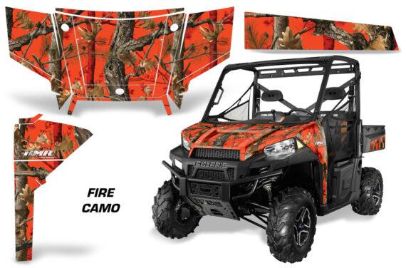 Polaris Range 13 15 Graphic Kit Wrap Fire Camo 570x376 - Polaris Ranger Diesel/Diesel HST/Crew Diesel/Crew 900/900XP 2013-2019 UTV Graphics