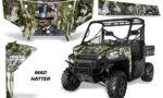 Polaris Range 13 15 Graphic Kit Wrap Mad Hatter Green Silverstripe 150x90 - Polaris Ranger Diesel/Diesel HST/Crew Diesel/Crew 900/900XP 2013-2019 UTV Graphics