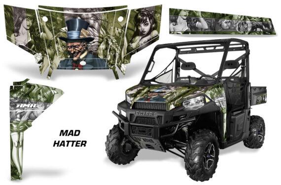 Polaris Range 13 15 Graphic Kit Wrap Mad Hatter Green Silverstripe 570x376 - Polaris Ranger Diesel/Diesel HST/Crew Diesel/Crew 900/900XP 2013-2019 UTV Graphics