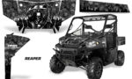 Polaris Range 13 15 Graphic Kit Wrap Reaper Black 150x90 - Polaris Ranger Diesel/Diesel HST/Crew Diesel/Crew 900/900XP 2013-2019 UTV Graphics
