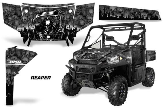 Polaris Range 13 15 Graphic Kit Wrap Reaper Black 570x376 - Polaris Ranger Diesel/Diesel HST/Crew Diesel/Crew 900/900XP 2013-2019 UTV Graphics