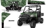 Polaris Range 13 15 Graphic Kit Wrap Reaper Green 150x90 - Polaris Ranger Diesel/Diesel HST/Crew Diesel/Crew 900/900XP 2013-2019 UTV Graphics