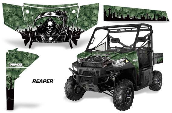 Polaris Range 13 15 Graphic Kit Wrap Reaper Green 570x376 - Polaris Ranger Diesel/Diesel HST/Crew Diesel/Crew 900/900XP 2013-2019 UTV Graphics