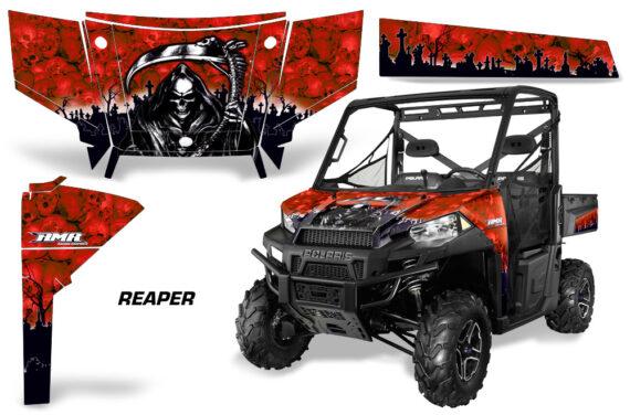 Polaris Range 13 15 Graphic Kit Wrap Reaper Red 570x376 - Polaris Ranger Diesel/Diesel HST/Crew Diesel/Crew 900/900XP 2013-2019 UTV Graphics