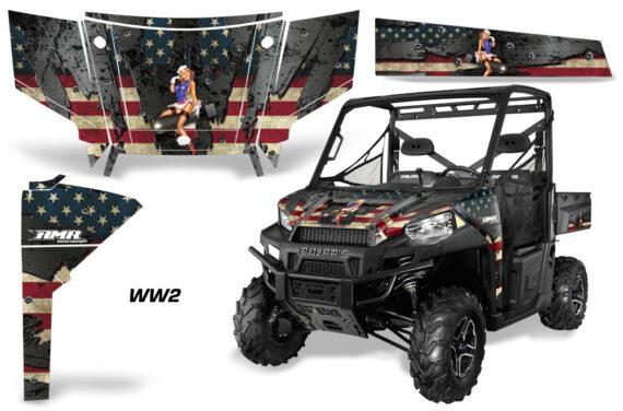 Polaris Range 13 15 Graphic Kit Wrap WW2 570x376 - Polaris Ranger Diesel/Diesel HST/Crew Diesel/Crew 900/900XP 2013-2019 UTV Graphics