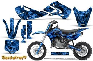 Suzuki DRZ 110 2003 2013 CreatorX Graphics Kit Backdraft Blue 320x211 - Suzuki DRZ 110 RM 65 2003-2013 Graphics