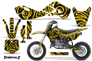 Suzuki-DRZ-110-2003-2013-CreatorX-Graphics-Kit-TribalZ-Yellow