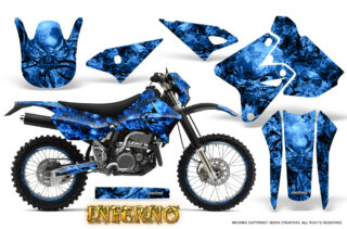 Suzuki DRZ400 Enduro Graphics Kit Inferno Blue NP Rims 320x211 - Suzuki DRZ 400 2000-2018 Plastic Tank Graphics