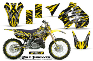 Suzuki RM250 96 98 Graphics Kit Bolt Thrower Yellow NP Rims 320x211 - Suzuki RM 250 1996-1998 Graphics
