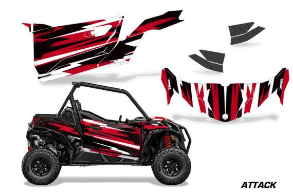 Can Am Maverick 2DR Sport DPS 2019 Graphic Kit Vinyl Decal Deco Attack Red 570x376 - Honda Talon 1000X 2019 2 Door UTV Graphics